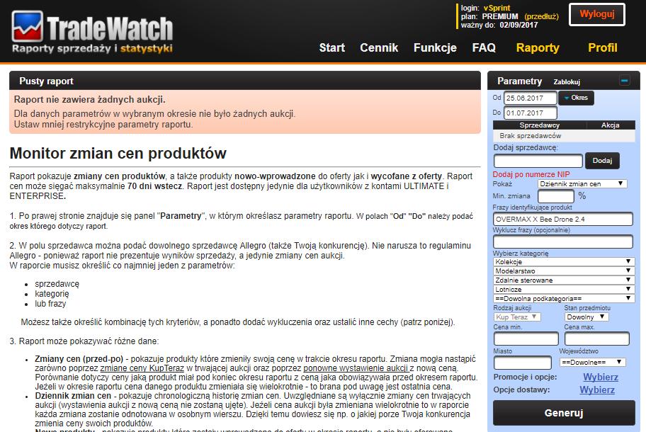 TradeWatch monitoring cen