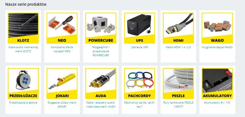 Serie produktów na ALlegro