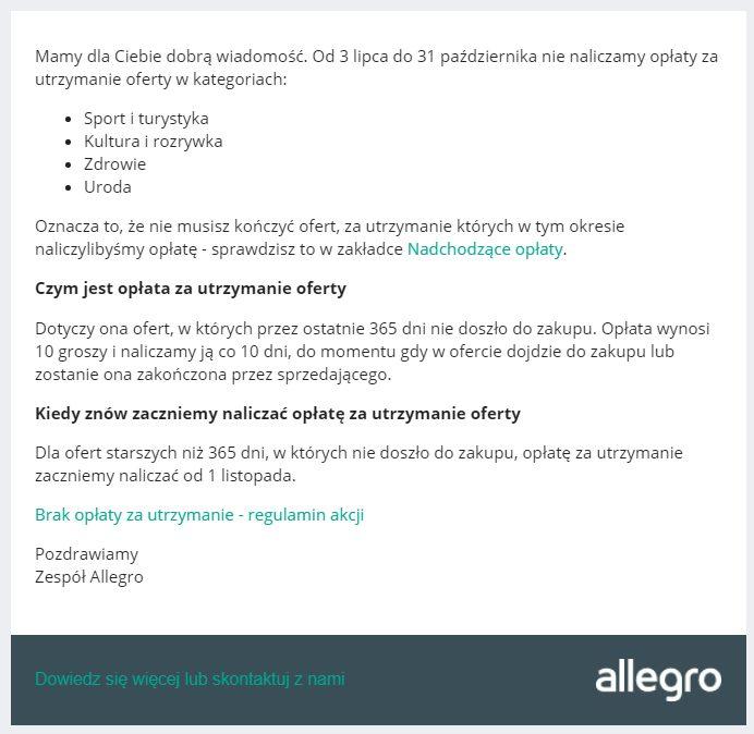 Jak Zmniejszyc Koszty Allegro Oplata Utrzymaniowa Vsprint Pl