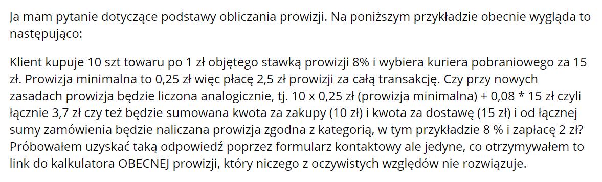 Koszty dostawy na Allegro i Prowizja