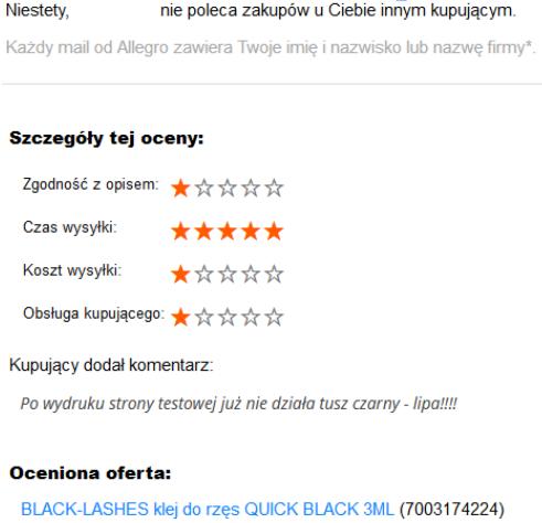 Wyprzedz Konkurencje Majac Pozytywow Komentarze Na Allegro Vsprint Pl